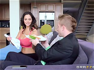 Ava Addams is porked in both her humid slots