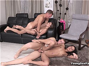 super-sexy youthful Russians having foursome
