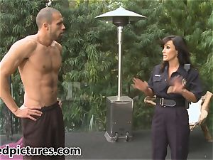 buxom cop Lisa Ann gives out her penis punishment