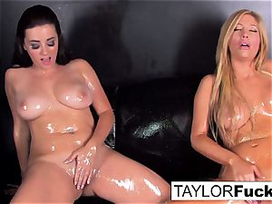 super-steamy lesbians use gloss baby lube