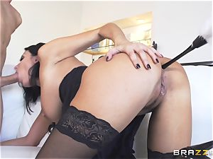 Maid Anissa Kate getting her fleshy rump pulverized by a fat spear