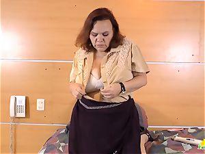 LatinChili super hot huge-chested grandma Solos Compilation