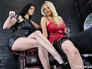mistress Lucy Zara Lilly Roma whip humiliate sissy maid