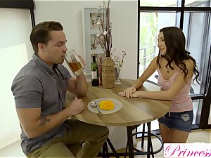 Lily Adams smashes her wild stepbrother
