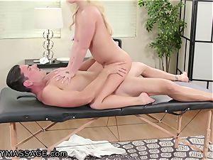 FantasyMassage Bailey Brooke On Top of massagists trouser snake!