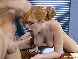 bone hungry Lauren Phillips romped in her ginger cootchie