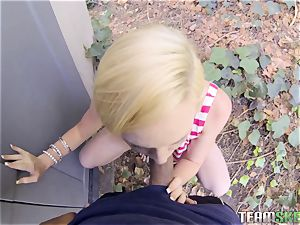 cute blondie Miley May picked up off the street