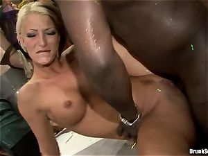 Bibi Fox with sweetheart pals packed with scorching jizz
