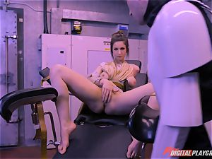Stella Cox beaver hammered by a space agent