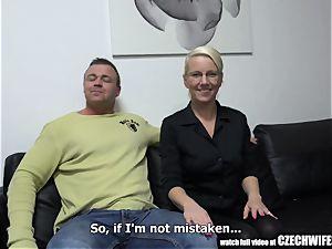 blonde wife cuckold her husband