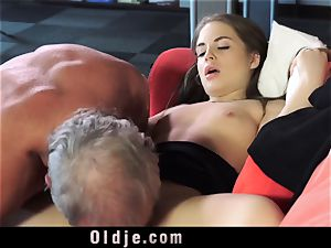 Russian lady inhale The boner of an aged grandfather