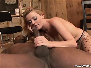 sandy-haired Takes interracial buttfuck