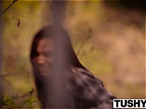 TUSHY killer dark haired Aidra Fox double pummeled