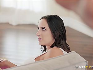 pummeling a lewd brunette is so much finer when it's barred