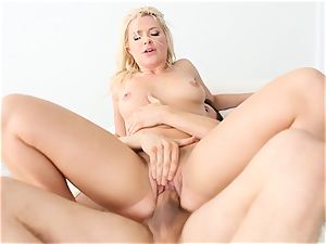 Anikka Albrite gets a faceful of cream-colored jizm